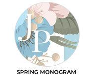 Spring Monogram Wedding Theme Favours