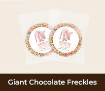 Welcome Back Personalised Chocolate Freckles