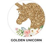 Golden Unicorn Birthday Party Favours
