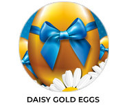 Daisy Gold Eggs Personalised Easter Chocolates