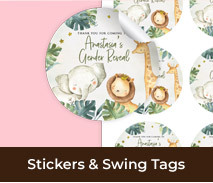 Custom Labels And Tags For Gender Reveal Parties