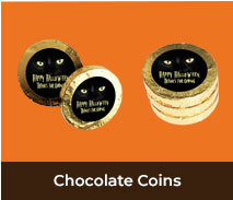 Personalised Chocolate Coins For Halloween
