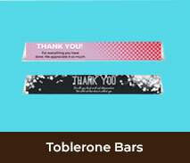 Thank You Personalised Toblerone Bars