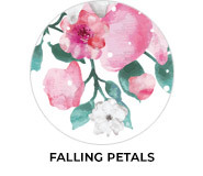 Falling Petals Theme Wedding Favours