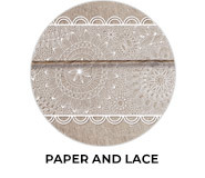 Paper And Lace Theme Wedding Favours