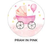 Pram Pink Theme Custom Baby Shower Favours