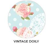 Vintage Doily Custom Baby Shower Favours