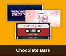 Personalised Chocolate Bars For Adult Birthdays