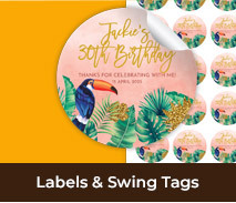 Custom Labels And Swing Tags For Adult Birthdays