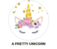 A Pretty Unicorn Theme Birthday Favours