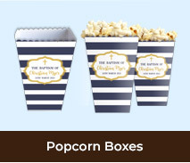 Personalised Popcorn Boxes For Christenings