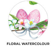 Floral Watercolour Personalised Easter Chocolates