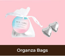 Personalised Organza Bags For Gender Reveals