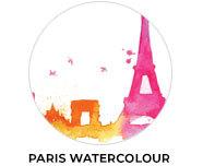 Paris Watercolour Theme Birthday Favours