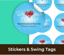 Stickers And Swing Tag For Int'l Nurses Day
