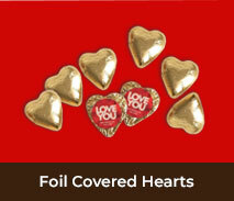 Valentine's Day Foil Chocolate Hearts