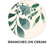 Branches On Cream Wedding Favour Theme