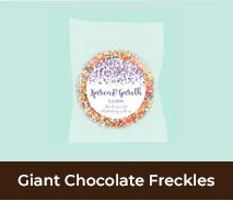 Giant Chocolate Freckles For Weddings