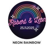 Neon Rainbow Wedding Theme Favours