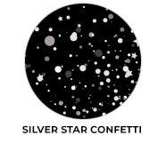 Silver Star Confetti Wedding Theme Favours