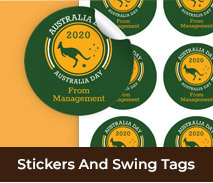 Australia Day Stickers And Swing Tags