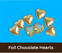 Personalised Birthday Foil Chocolate Hearts