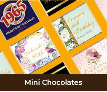 Custom Mini Chocolates For Adult Birthdays