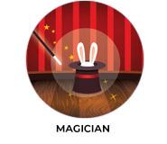 Magician Theme Custom Birthday Party Favours