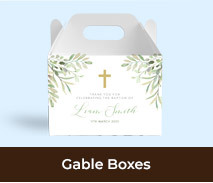Gable Box Favour Boxes For Christenings