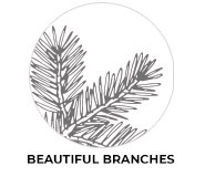 Beautiful Branches Theme Custom Christmas Favours