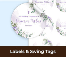 Custom Labels Swing Tags For First Holy Communions