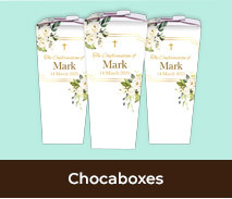Personalised Confirmation Chocabox Favour Boxes