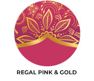 Regal Pink And Gold Wedding Favours