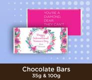 International Womens Day Chocolate Bars