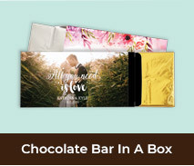 Personalised Wedding Chocolate Bar Favour Boxes