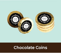 Chocolate Coin Wedding Favours