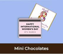 International Womens Day Mini Chocolates