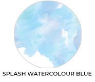 A Splash Of Watercolour Blue Baby Shower Favours