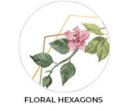Floral Hexagon Theme Custom Baby Shower Favours