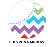 Chevron Rainbow Birthday Party Favours