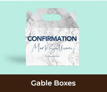 Personalised Gable Boxes For Confirmations