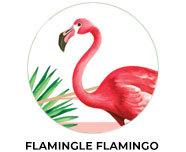 Flamingle Theme Birthday Favours