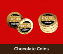 Personalised Chocolate Coins For Valentine's Day