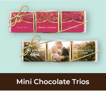 Mini Chocolate Trio Wedding Favours