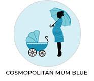 Cosmopolitan Mum Blue Baby Shower Favours