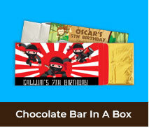 Personalised Kids Party Chocolate Bar Boxes