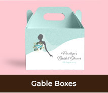 Bridal Shower Personalised Gable Boxes