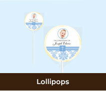 Personalised Christening And Baptism Lollipops