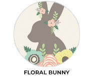 Floral Bunny Personalised Easter Chocolates