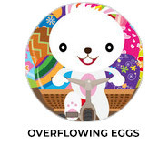 Overflowing Eggs Easter Chocolate Theme